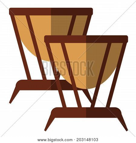 Timpani musical instrument flat icon, vector sign, colorful pictogram isolated on white. Symbol, logo illustration. Flat style design