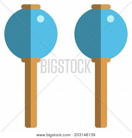 Maracas musical instrument flat icon, vector sign, colorful pictogram isolated on white. Symbol, logo illustration. Flat style design