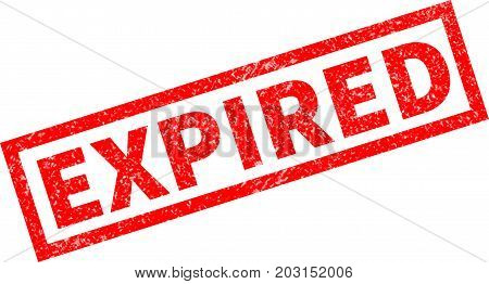 expired red rubber stamp on white background. expired sign.
