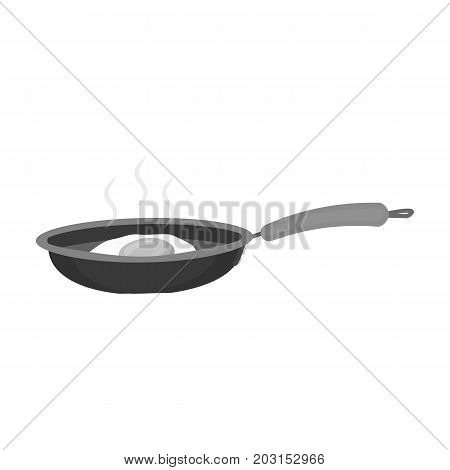 Frying pan, single icon in monochrome style.Frying pan vector symbol stock illustration .