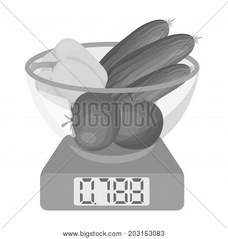 Scales, single icon in monochrome style.Scales, vector symbol stock illustration .