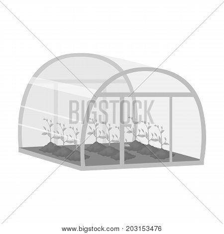 Greenhouse, single icon in monochrome style .Greenhouse, vector symbol stock illustration .