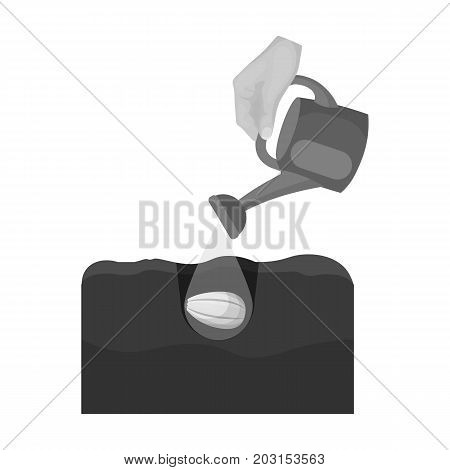 Watering single icon in monochrome style .Watering, vector symbol stock illustration .
