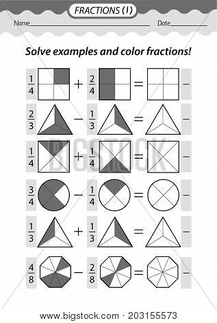 Solve Examples And Color Fractions