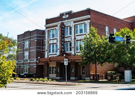 NORFOLK, VIRGINIA - JULY 13, 2017:  The Attucks Theater, financed, designed and constructed by African Americans in 1919.  Dubbed the Apollo Theater of the south, it showcased legendary performers.
