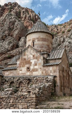 Armenia. The monastery complex of Noravank the church of St. John the Baptist (St. Karapet) and the chapel of St. George (St. Grigor).