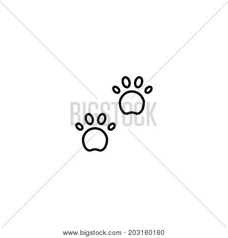 Hand with animal  flat icon. Single high quality symbol of line pet vector for web design or mobile app. Color sign of veterinary for design logo. Single pictogram on white background