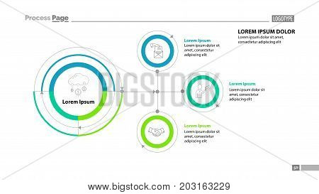 Flowchart slide template. Element of diagram, infographic, flowchart. Concept for presentation, slide template, annual report. Can be used for topics like business, trade, finance