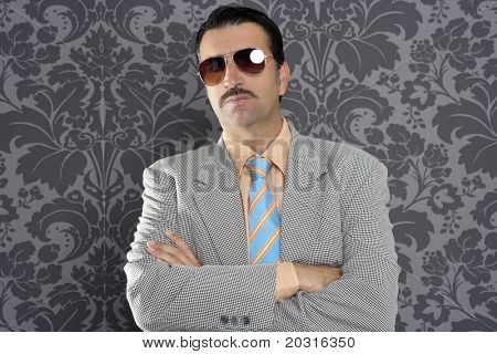 nerd serious proud businessman sunglasses portrait wallpaper background poster