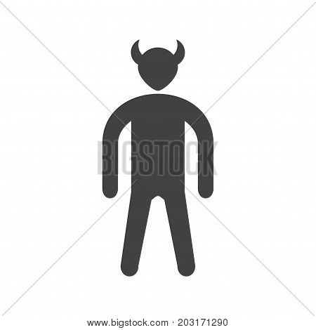 Evil, anger, devil icon vector image. Can also be used for Personality Traits. Suitable for mobile apps, web apps and print media.
