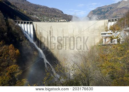 The Dam Of Verzasca On The Italian Part Of Swtzerland