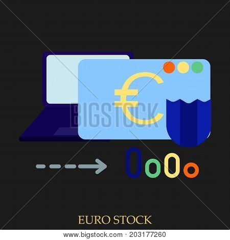 Euro stock vector illustration. Flat style design. Colorful graphics