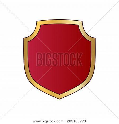 Shield Gold Red Icon Shape Emblem