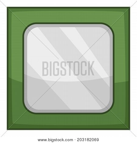 Old cpu icon. Cartoon illustration of old cpu vector icon for web
