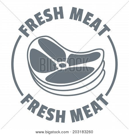 Fresh meat logo. Simple illustration of fresh meat vector logo for web design isolated on white background