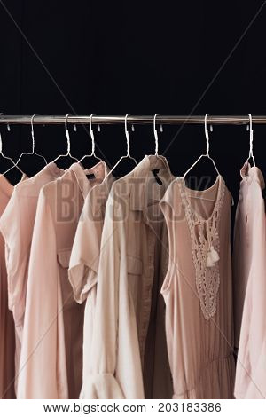 Clothing Hanging On Clothes Rack