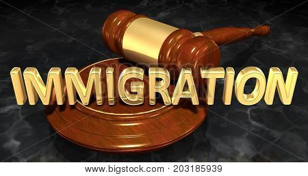 Immigration Law Concept 3D Illustration