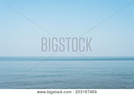 Summer landscape with sea and clear blue sky