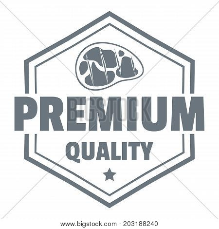 Premium meat quality logo. Simple illustration of premium meat quality vector logo for web design isolated on white background