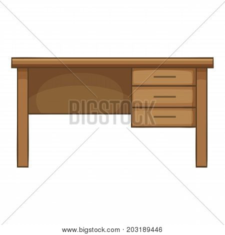Writing table icon. Cartoon illustration of writing table vector icon for web
