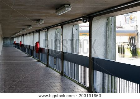 Thames Barrier Passageway In London
