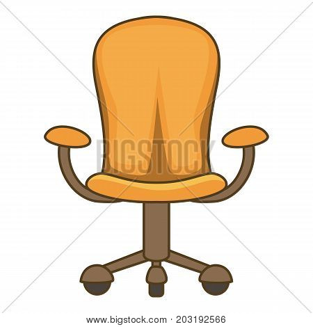 Orange chair icon. Cartoon illustration of orange chair vector icon for web