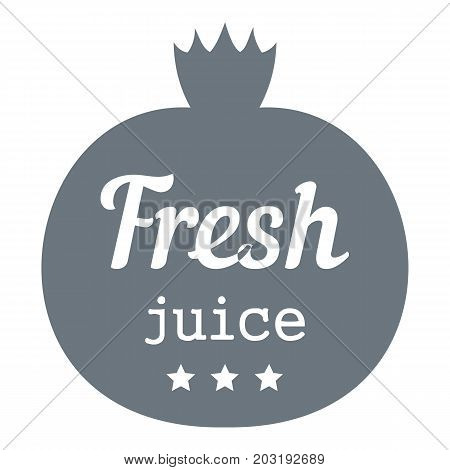 Eco fresh juice logo. Simple illustration of eco fresh juice vector logo for web design isolated on white background