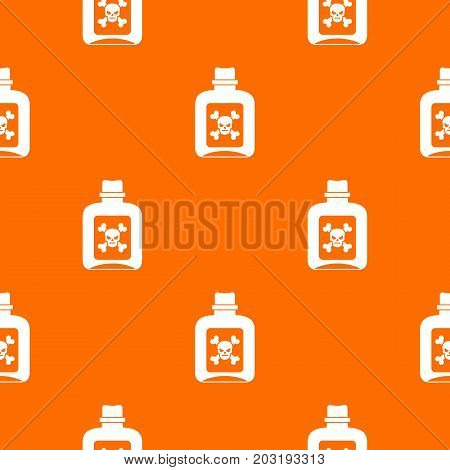Poison pattern repeat seamless in orange color for any design. Vector geometric illustration