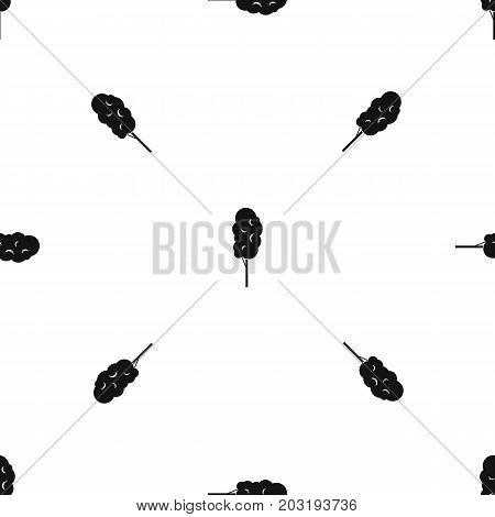 Tall wood pattern repeat seamless in black color for any design. Vector geometric illustration