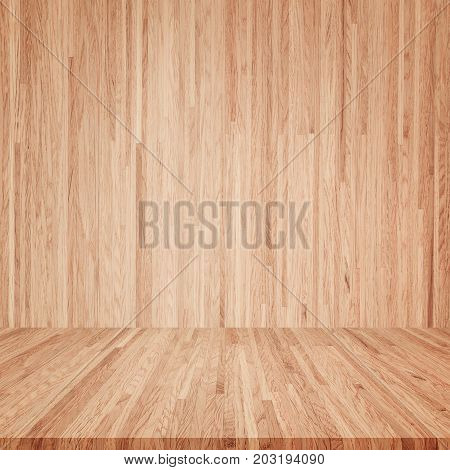 wooden interior room, wood texture for background