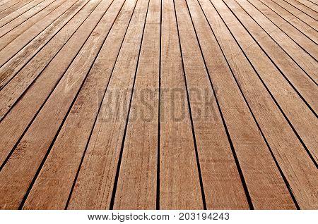 Perspective wooden floor. wood plank texture for background.