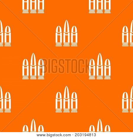 Cartridges pattern repeat seamless in orange color for any design. Vector geometric illustration