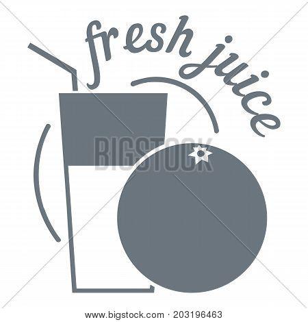 Fresh juice logo. Simple illustration of fresh juice vector logo for web design isolated on white background