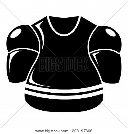 Hockey uniform icon . Simple illustration of hockey uniform vector icon for web design isolated on white background