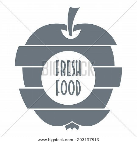 Fresh food logo. Simple illustration of fresh food vector logo for web design isolated on white background