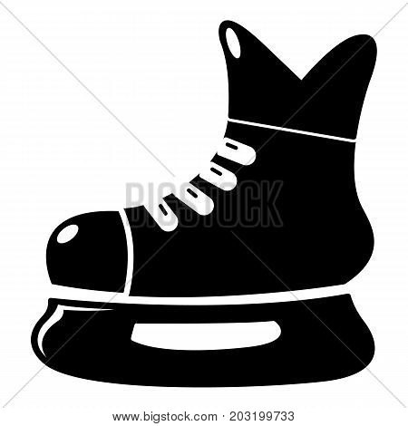 Ice hockey skate icon . Simple illustration of ice hockey skate vector icon for web design isolated on white background