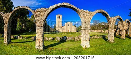 Religious monuments of Italy - Abbey San Vincenzo al Volturno in Molise