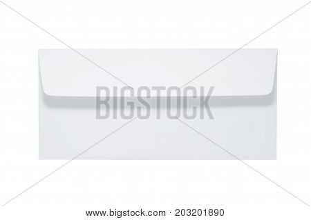 White Envelope Isolated On White Background. Clipping Path Included.