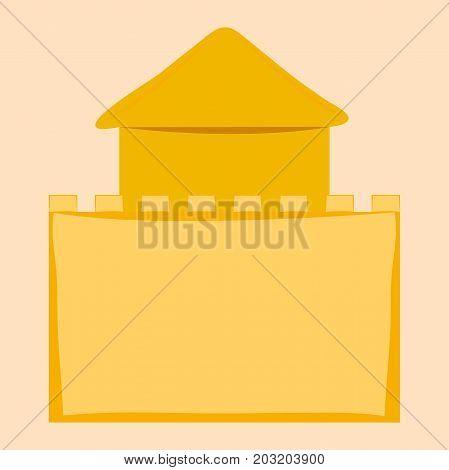 sand castle . vector illustration . sand  house of clay