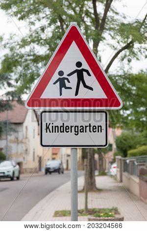 Attention Children Roadsign (kindergarten, Primary School)