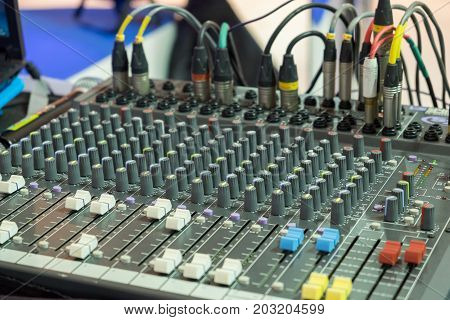 Sound Music Mixer Control Panel, Audio Mixing Board