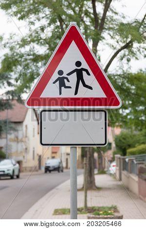 Attention Children Roadsign