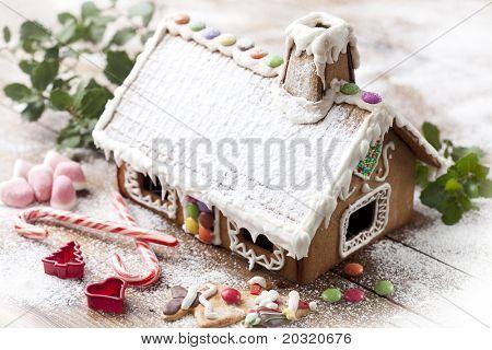 closeup of christmas sweets