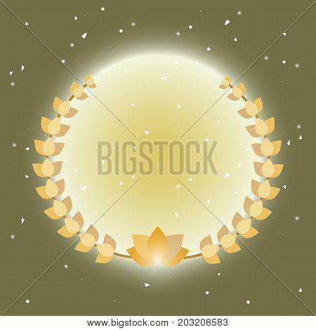 Imagination laurel wreath on radial ray background stock vector