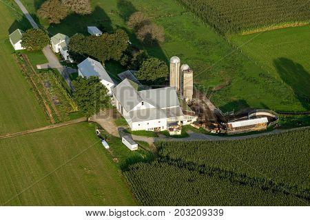 Aerial Farm View