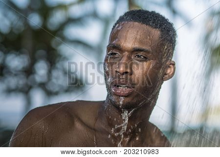 The Black Guy In The Shower In Nature