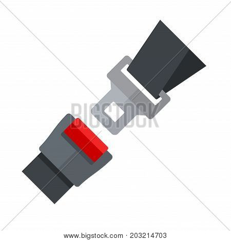 Open Seatbelt on White Background. Flat Style Vector illustration