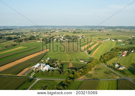 Straight Fields From Above