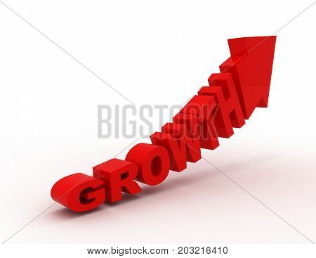 growth concept graph  . 3d rendered illustration