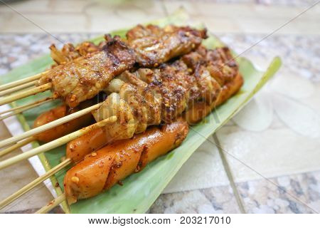 barbecued pork or Chinese barbecue with Sichuan pepper